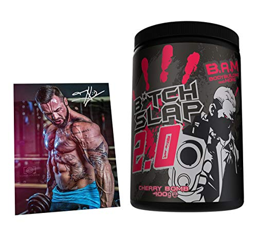 Fan Edition B.A.M. B*tch Slap 2.0 Pre-Workout Booster Trainingsbooster Bodybuilding 400g (Cherry Bomb)