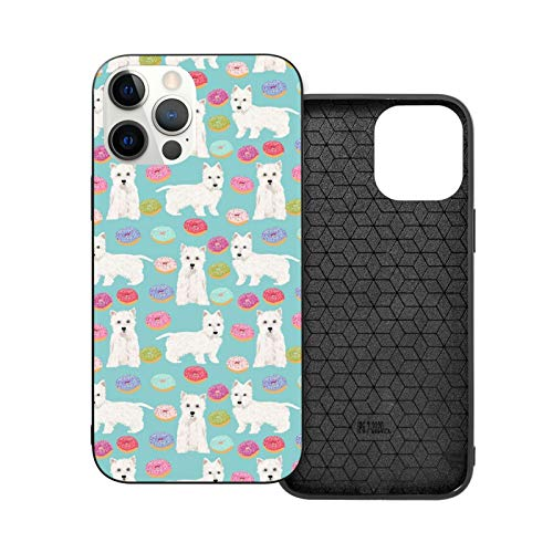 New Westie Donuts Terriers iPhone 12 / iPhone 12 Mini / iPhone 12 Pro / iPhone 12 Pro max Funda de teléfono resistente a los golpes y arañazos