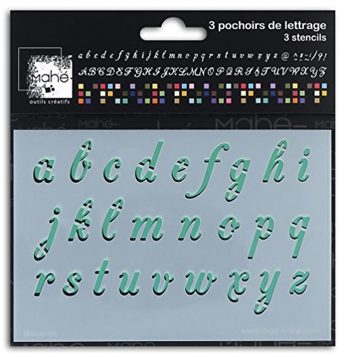 Mahé LE21?Stencil Alphabet Wooden 15?x 30?x 0.1?cm Plastic Transparent