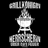Soreso Grillschürze & Urkunde :+: Grillkönigin Grillschürze Frauen lustig Geschenk Grillzubehör Mitbringsel Farbe: schwarz - 3