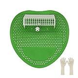 Fußball-Urinalschutz, Fußball-Urinal-Kuchen, Spritzschutzmatten für Badezimmer von Bars, Toiletten, Büros, Restaurants, Schulen (grün)