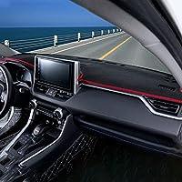 NUIOsdz 車のダッシュボードライトパッドを避けてくださいインストルメントプラットフォームデスクカバーマットカーペット、フィット、トヨタRAV4 RAV 4 XA50 2019-2021