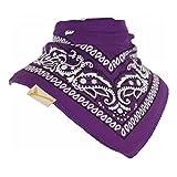 Purple & White Patterned Bandana Bib
