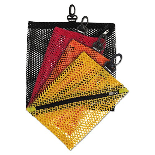 Vaultz Mesh Storage Bags Assorted Colors and Sizes 4 Bags VZ01211