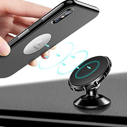 Cafele - Soporte para teléfono de coche (360º) Negro magnético.