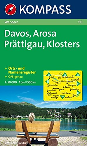 Davos, Arosa, Prättigau, Klosters 1 : 50 000: Wanderkarte. GPS-genau