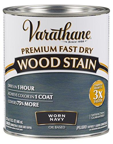 297428 Premium Fast Dry Wood Stain, Worn Navy, 32 oz