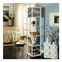 リネンランプシェードベッドルームスタディシンプルでモダンなストレージデコレーション垂直光で棚フロアランプ - リビングルーム立ちランプ (Color : White, Size : 40cm*40cm*183cm)