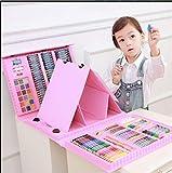 Juego de arte inspirado para el dibujo, 176 pzas, papelería de aprendizaje, regalos, pintura de arte, set de pluma de acuarela para niños, caja de regalo de herramientas de pintura para niños
