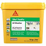 Sika FastFix All Weather Self-Setting Paving Jointing Compound, Dark Buff, 15 kg - 21 sq m