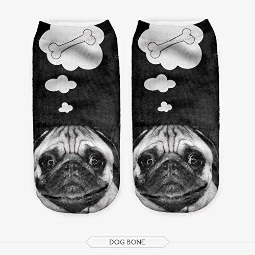 NANAYOUPIN Sokken Personalisiertes Komfort-Baumwolltier 5 Paar 3D Print Schwarze Katzenaugen Tier Frauen Marke Originele Söckchen Laarzen LadieWählen Sie aus einer Vielzahl von Farben