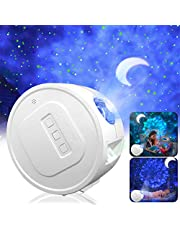 Star Projector, Ganeed Starry Sky Projector,3 in 1 Ocean Wave Laser Projector w/LED Nebula Cloud& Moon, Galaxy Timer Night Light for Baby Kids Bedroom/Game Rooms/Stage/Wedding Birthday Party