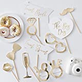 Ginger Ray Gold Foiled Wedding Photo Booth 10 Stück