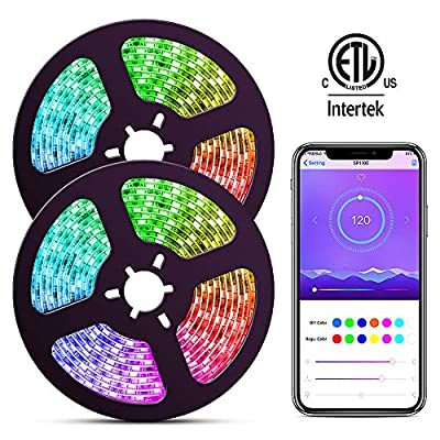 ELlight LED Strip Lights with APP, Dream Color 32.8ft LED Lights with Multicolor Chasing, Waterproof RGB Rope Lights Kit, 300 LEDs SMD 5050 Flexible Strip Lighting for Home Kitchen
