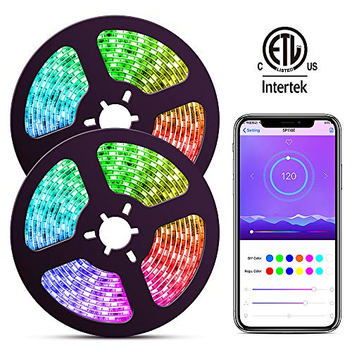 ELlight LED Strip Lights with APP, Dream Color 10m/32.8ft LED Lights with Multicolor Chasing, Waterproof RGB Rope Lights Kit, 300 LEDs SMD 5050 Flexible Strip Lighting for Home Kitchen