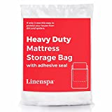 Linenspa Heavy Duty Mattress Storage Bag with Double Adhesive Closure, Queen
