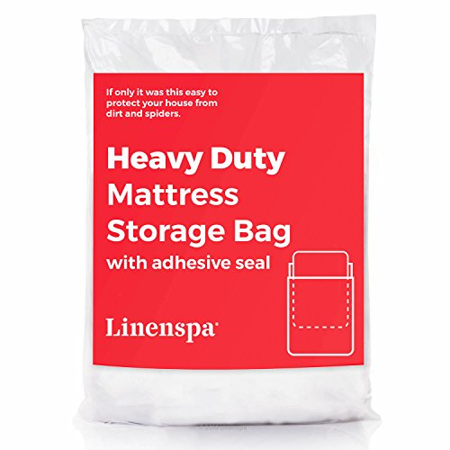 Linenspa Heavy Duty Mattress Storage Bag with Double Adhesive Closure, Perfect for Moving, Storage and Disposal
