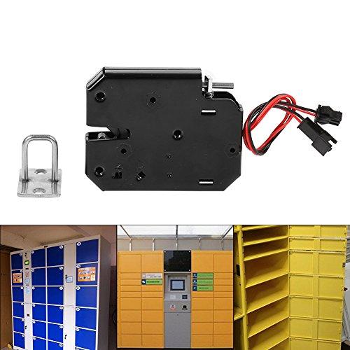 Elektronisch kastslot, Haofy DC 12V 2A Elektromagnetisch elektrisch kastslot voor automatische ladekast Verkoopmachinedeur, Intelligent Carbon Steel Black Latch voor Lock Security System