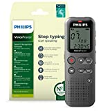Philips VoiceTracer Registratore audio DVT1115 | Registratore mono 4 GB, USB, software di riconoscimento vocale - Recorder Edition 13 EN/FR/DU/NL/ES/IT (Windows)