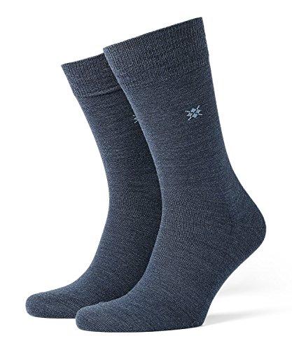 BURLINGTON Herren Socken Leeds - Schurwollmischung, 1 Paar, versch. Farben, Größe 40-50 - Wärmender Strumpf aus weicher Baumwolle auf der Innenseite sowie klimaregulierender Schurwolle außen