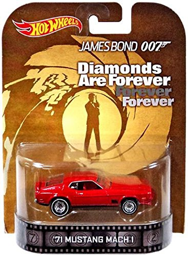 1971 Mustang Mach 1 James Bond 007 Diamond are Forever Hot Wheels 2014 Retro Series Die Cast Vehicle by Hot Wheels
