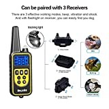 Dog Training Collar, Dog Shock Collar with Remote 2500FT Shock Collar for Dogs IPX7 Waterproof Rechargeable w/ Beep 99 Levels Vibrate...
