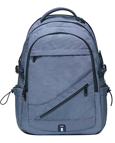 KAUKKO Vintage Canvas Backpack Travel Hiking Satchel Stylish Rucksack with Inner Compartment (Grey-KC03)