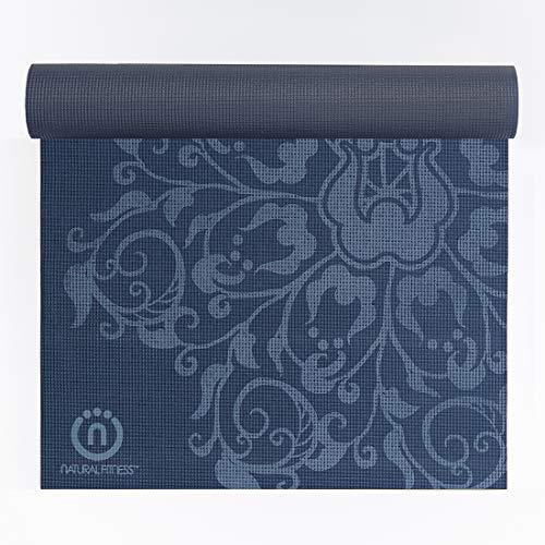 Natural Fitness Eco-Smart Yoga Mat (Indigo/Aqua, 24 x 69-Inch x 4-mm)