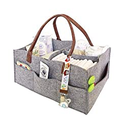 1. Our large baby nursery storage tote is built with high quality felt fabric, soft touch edge and highest standard you would expect, including removable organizing inserts so that you can keep all diapering essentials (diapers, wipes, clothes 2. NEW...