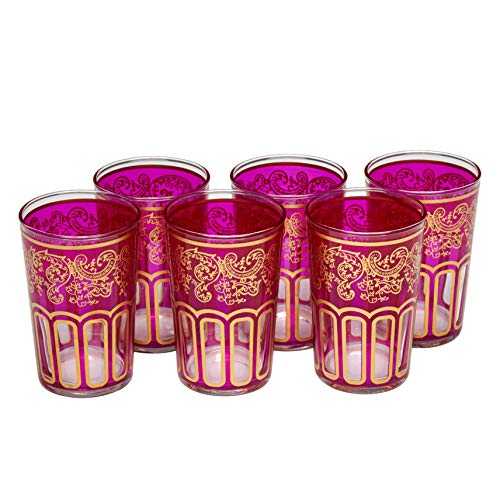 ESSENCE OF MOROCCO Vasos de Té Marroquíes con un Hermoso Diseño Clásico...