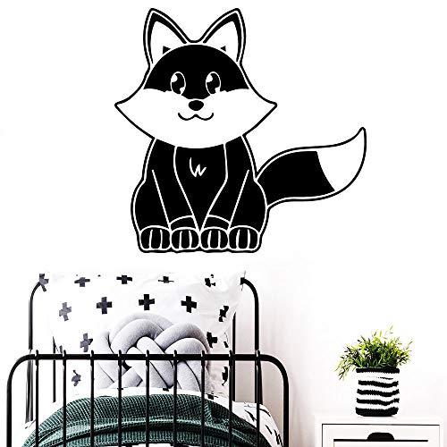 Familie Fox Wandaufkleber Vinyl Aufkleber Home Decoration Zubehör Grün XL 57cm X 58cm