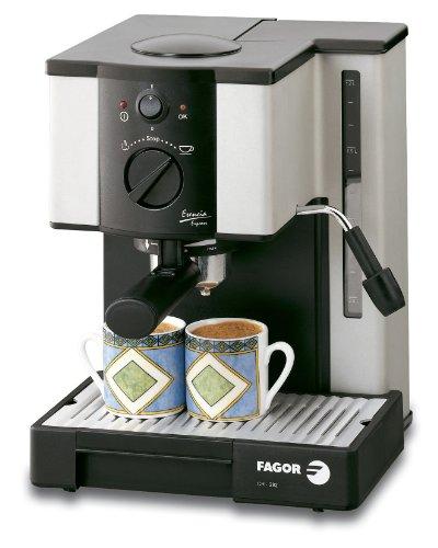 Fagor CR-282, Plata/Negro, 1000 W, AC 220-230V@50Hz, 255 x 360 x 260 mm, 6150 g, 7500 g - Máquina de café