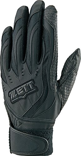 ZETT(ゼット) 高校野球ルール対応 バッティング グローブ インパクトゼット (左手用) BG197HS ブラック M