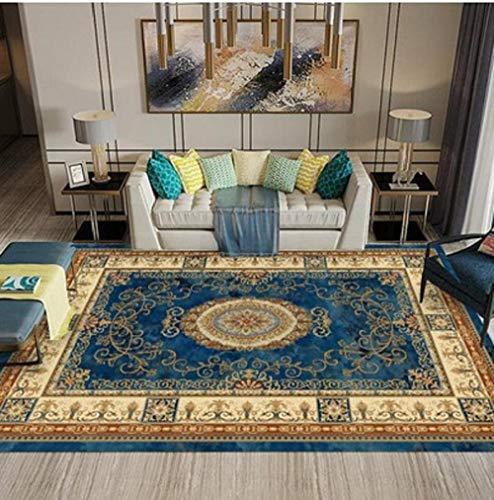 HPPSLT rugModernShort-pileEffectDecorativecarpet-Family exquisite noble symmetry carved breathable short pile decorative carpet-160x230CM