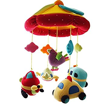 SHILOH Baby Crib Decoration Newborn Gift Plush Musical Mobile  Car & Plane