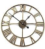 アイアンフレーム 壁掛け時計 ゴールド アンティーク 雑貨 アンティークデザイン アメリカンクロック ウォールクロック お祝い プレゼント お洒落 オシャレ インテリア 掛け時計 北欧 装飾