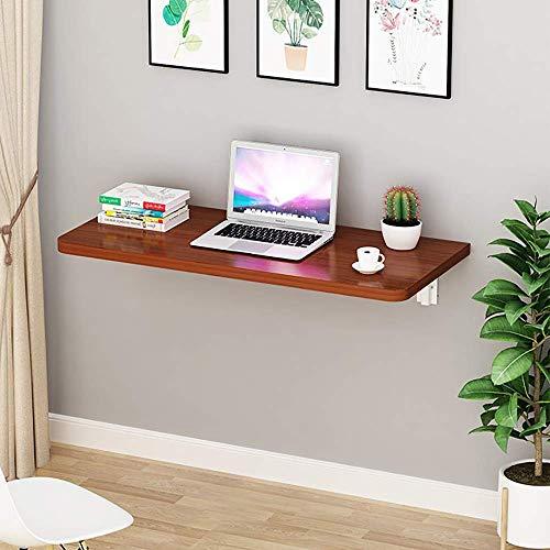 Mesa de computadora plegable de mesa de pared, mesa de gota de gota de trabajo de pared plegable, para espacios pequeños Oficina de mesa de oficina Cocina de cocina de madera maciza mesa de comedor me
