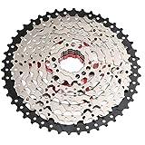 MTB FreeWheel Cassette de bicicleta 8-Velocidad 11-46T Relación de ancho Sprocket de bicicleta Pieza Acceso de Pieza Plata Hogar DIY