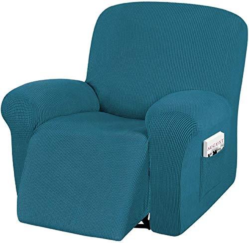 HYLDM Funda para sofá reclinable, 4 Piezas de Funda para Silla reclinable de Alta Elasticidad, Tela de Jacquard de Spandex Lavable a máquina, Parte Inferior elástica fácil de Instalar, p