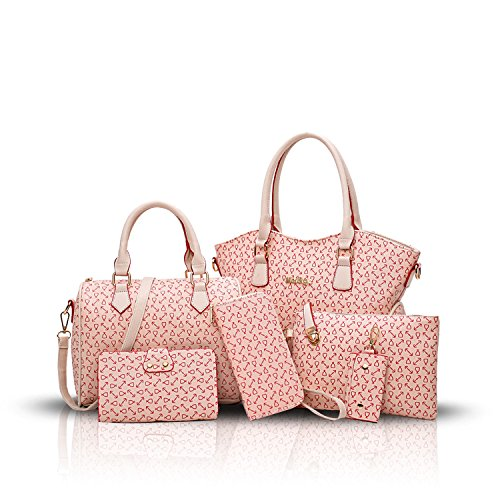 SDINAZ Donna Borse a mano moda 6 pezzi Borse a spalla Borse a tracolla Borse Tote Pochette e Clutch portafoglio