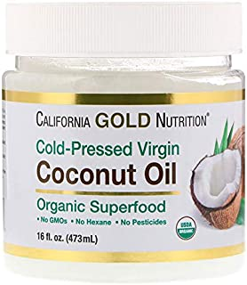 California Gold Nutrition コールドプレスオーガニックバージンココナッツオイル 473 ml 16 fl oz [並行輸入品]