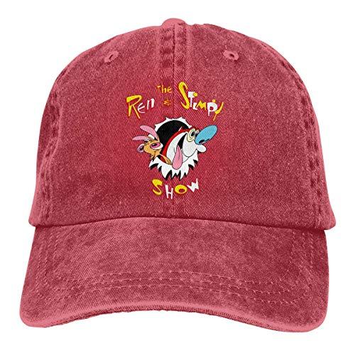 FUGVO Die Ren & Stimpy Show Cowboyhut Unisex Washed Adjustable Denim Baseball Caps
