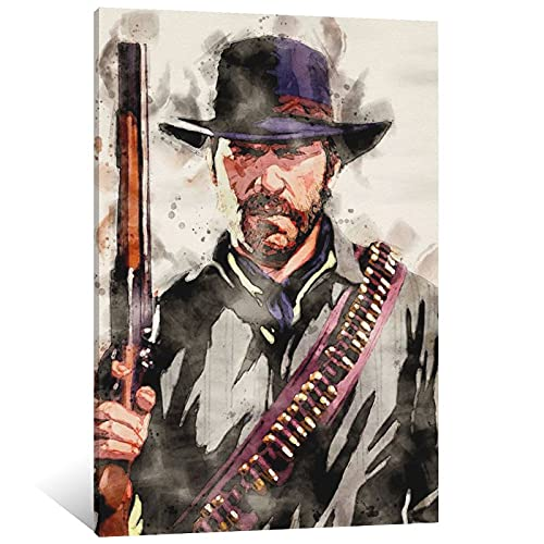 HXX Arthur Morgan Poster Decorative Painting Canvas Wall Art Living Room Posters Bedroom Painting 08×12inch(20×30cm)