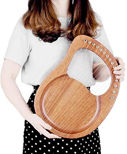 16 saiten Harfe-Saiten Mahagoni Holz-Schwarz Gigbag-Pick up Tuning Hammer Tragen Tasche Instrument für anfänger-Tragbare Kleine Harfe mit Durable Stahl Str