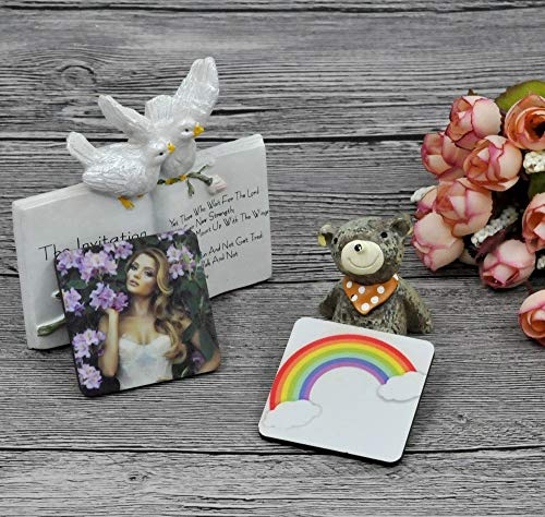 10pcs/lot sublimation blank DIY Fridge Magnets Wooden square MDF Personal Refrigerator Sticker Creative Magnets Birthday Gift
