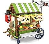 Exclusive Mini City - Sushi Cart - Custom Design Bricks - Compatible with All Major Brands
