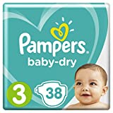 Pampers Baby Dry taille 3, 5–9kg, 38couches, 1er Pack (1x 38pièces)