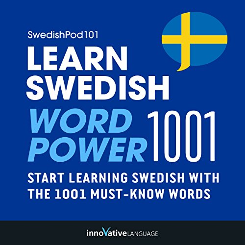 Learn Swedish - Word Power 1001 audiobook cover art