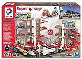 TOTAL Super Garage Completo-Doppio Parking e Station Service con circuiti 2 Metri, Colore Rosso, Grigio, Nero, 401001