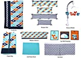 Bacati Liam Aztec 10 Piece Nursery-in-a-Bag Cotton Percale Crib Bedding Set with Bumper